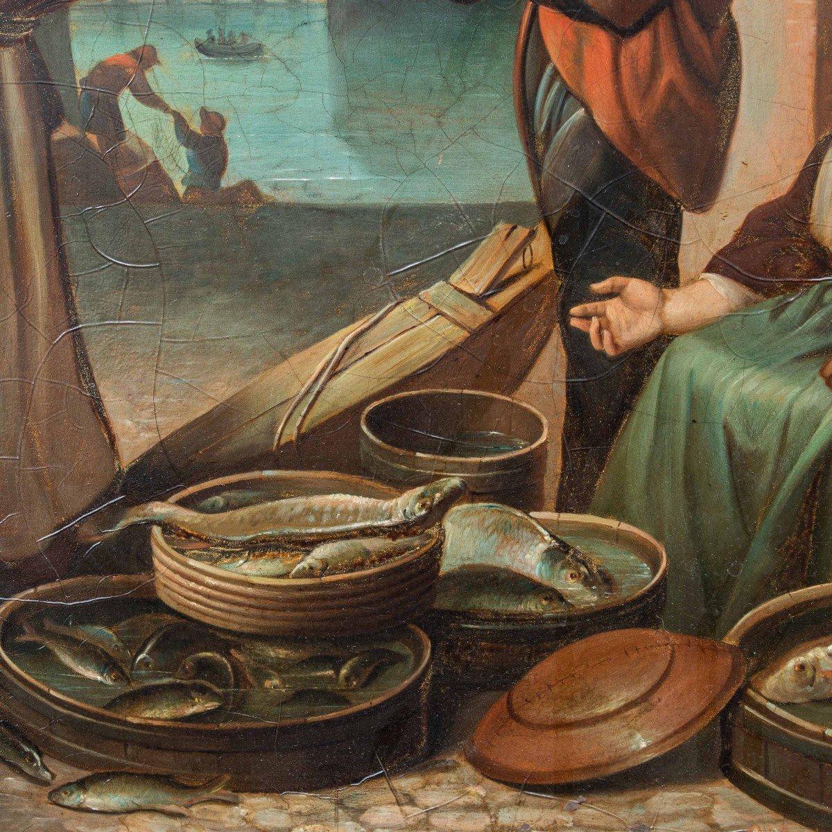 Cercle d'Abraham Van Strij (1753 - 1826), Scène De Marché-photo-3