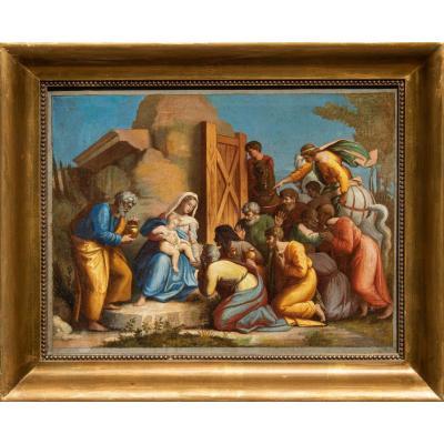 Adoration Des Mages, XVIIIe Siècle, Par Perin Del Vaga (1501-1547)
