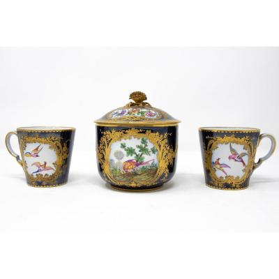 Service Of Two Cups And A Sugar Bowl, Manufacture De Sèvres, Nineteenth Century