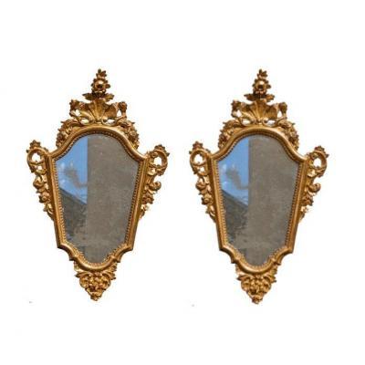 Paire De Miroirs, Toscane, XVIIIe Siècle