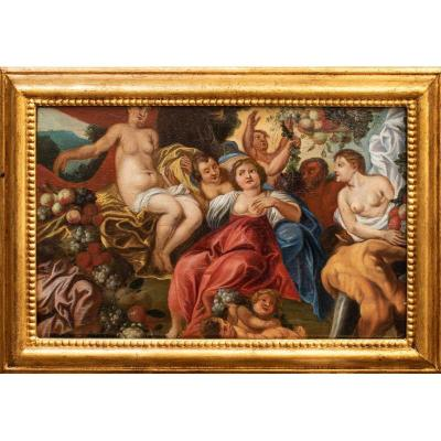 Ecole De Rubens, XVIIe Siècle, Allégorie De l'Abondance