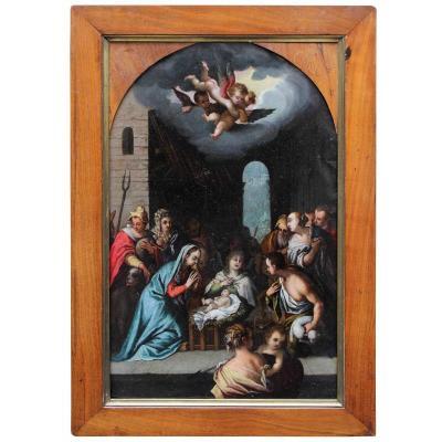 Adoration Of The Shepherds, Domenico Carnevale (1524 - 1579)