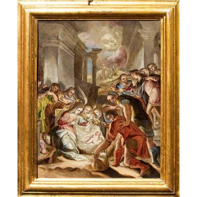 Adoration Des Bergers, Attr. à Girolamo Siciolante Dit Da Sermoneta (1521 - 1575)