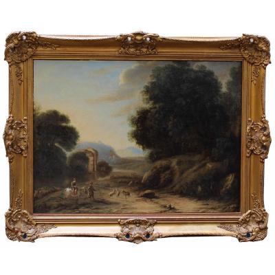 Landscape With Figures, Eighteenth Century