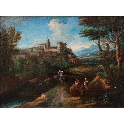 Lazio Landscape, Workshop Of Jan Frans Van Bloemen