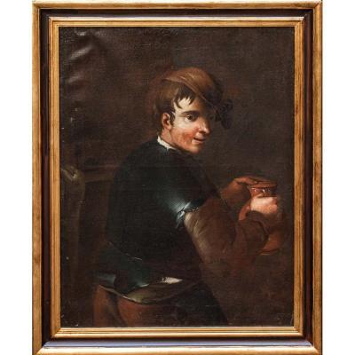 Portrait Of Young People, Circle Of Antonio Amorosi (1660 - 1738)