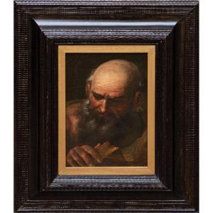 Portrait d'Un Homme Avec Un Livre, XVIIIe Siècle