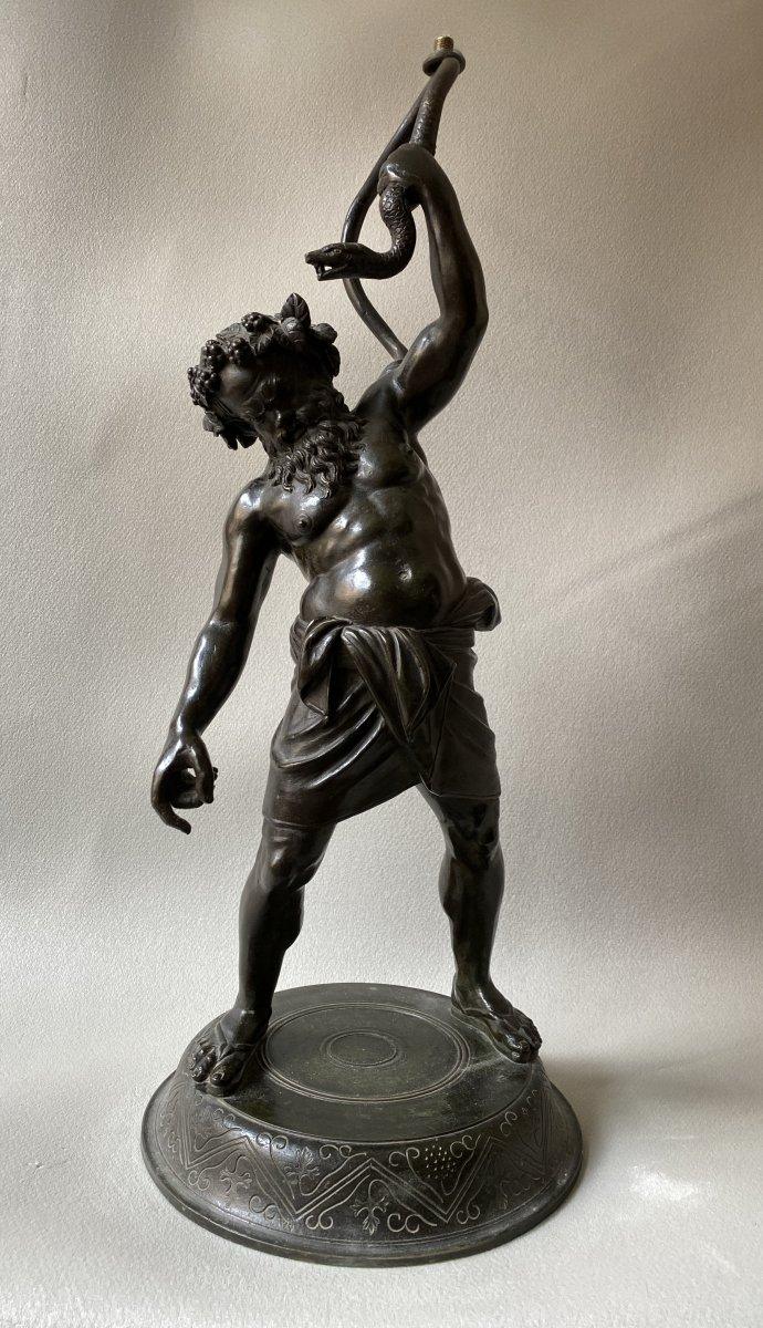 Silène Ivre,  Bronze d'après l'antique  ( montable en lampe)