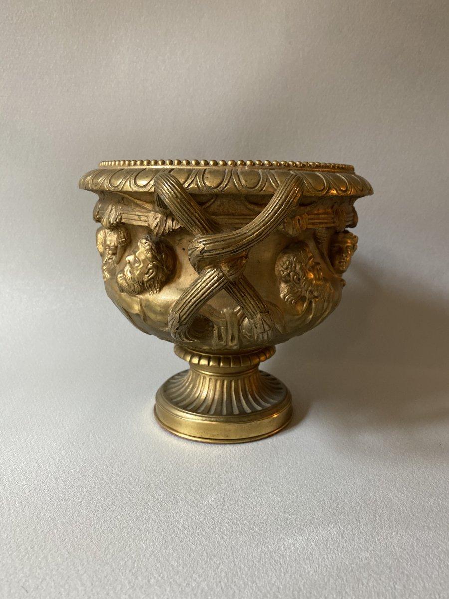 Vase Warwick En Bronze Doré XIXe d'après l'antique -photo-4