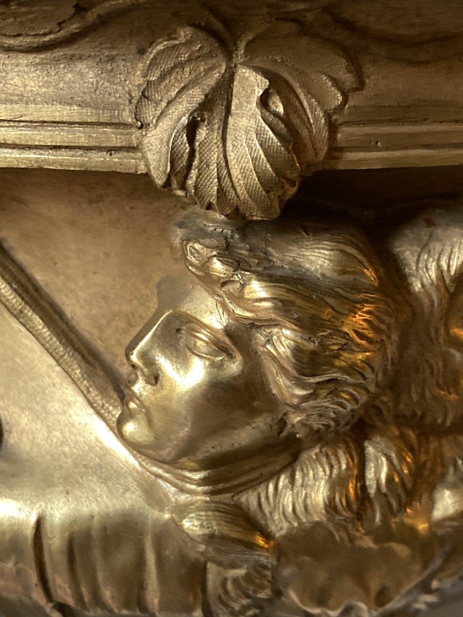 Vase Warwick En Bronze Doré XIXe d'après l'antique -photo-1