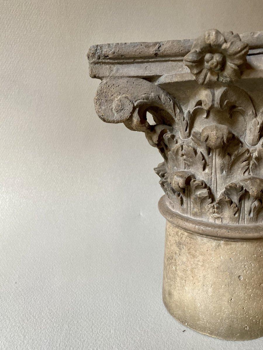 Chapiteau Corinthien En Pierre -photo-2