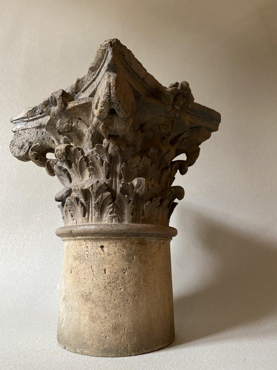Chapiteau Corinthien En Pierre -photo-1