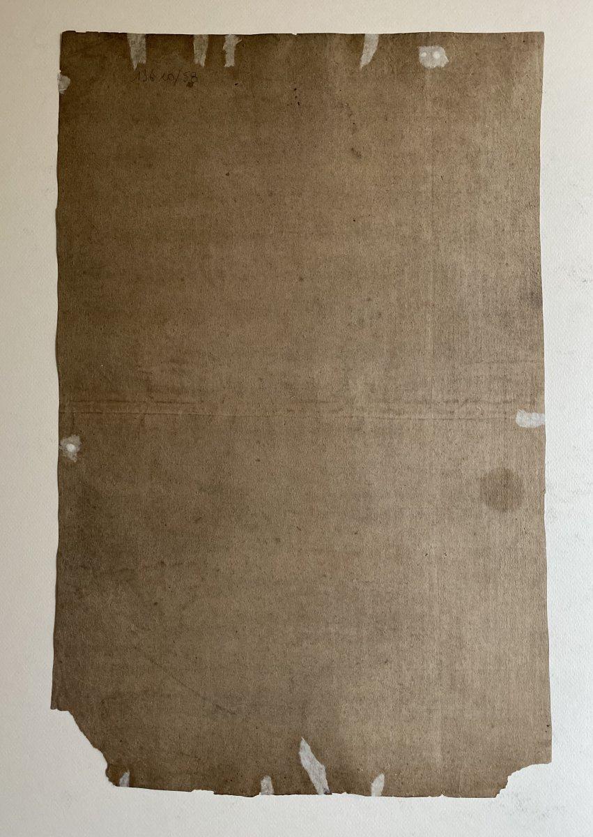 Dessin Académique Français  XIXe,  modèle nu masculin