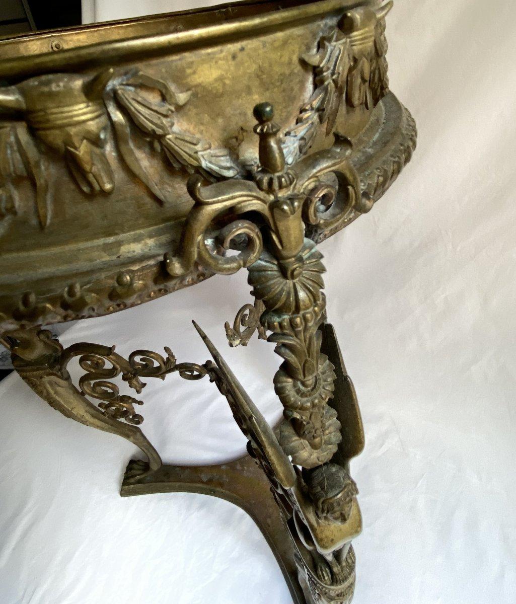 Trépied En Bronze  De Pompéi d'Après Le Modèle Antique - Naples  Italie  XIXe Siècle.-photo-1