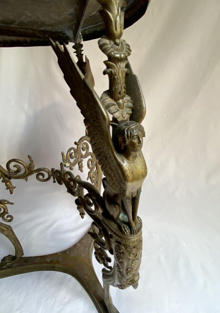 Trépied En Bronze  De Pompéi d'Après Le Modèle Antique - Naples  Italie  XIXe Siècle.-photo-2