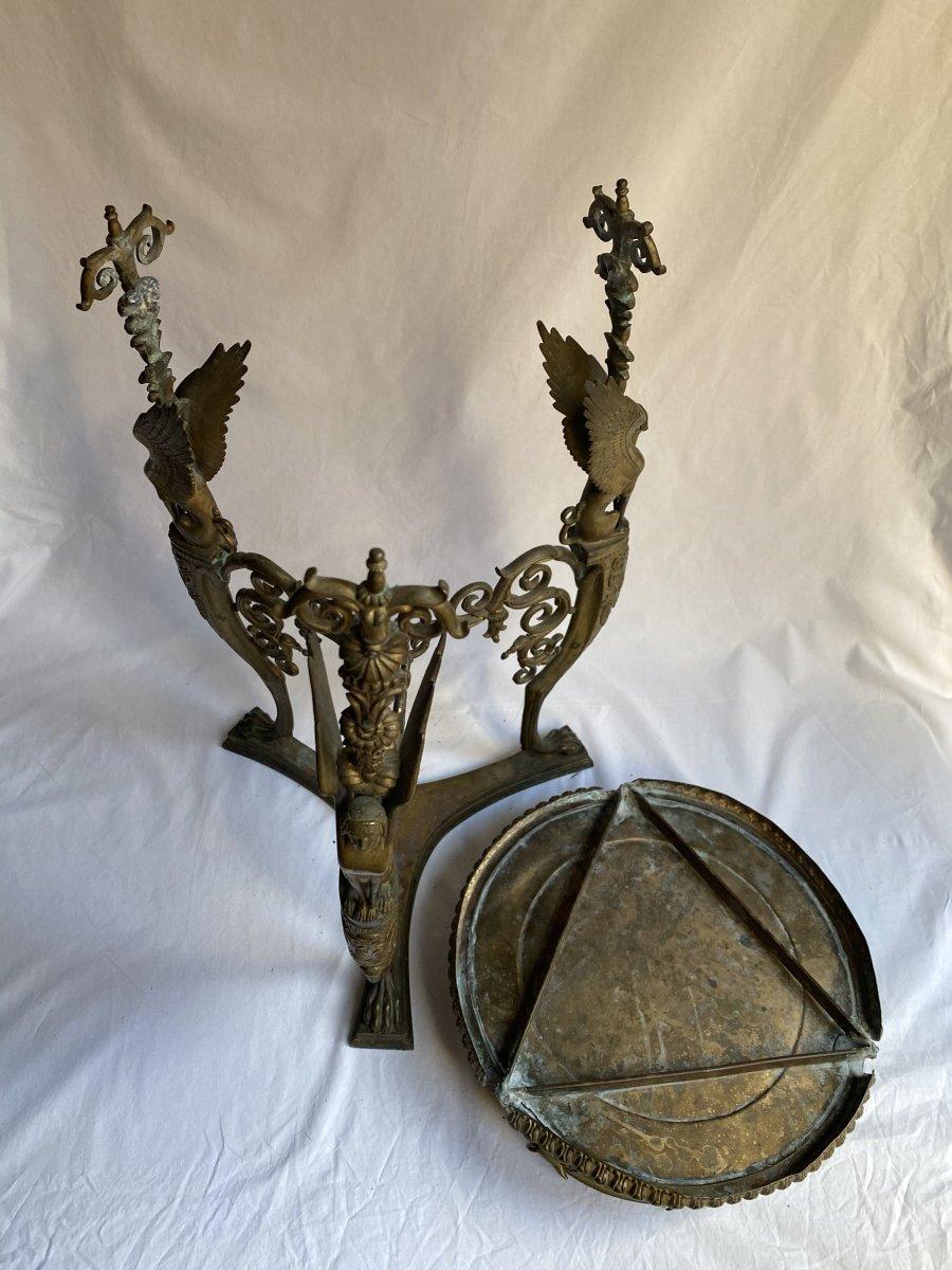 Trépied En Bronze  De Pompéi d'Après Le Modèle Antique - Naples  Italie  XIXe Siècle.-photo-3