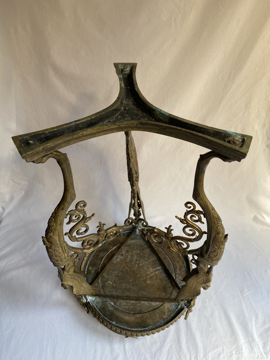 Trépied En Bronze  De Pompéi d'Après Le Modèle Antique - Naples  Italie  XIXe Siècle.-photo-4