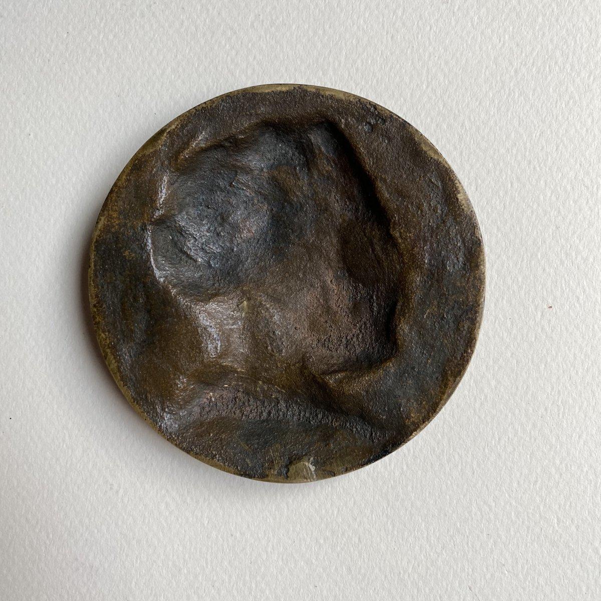 Joaquín Albarrán Medallion In Bronze Signed Victor Segoffin (1867-1925)-photo-1