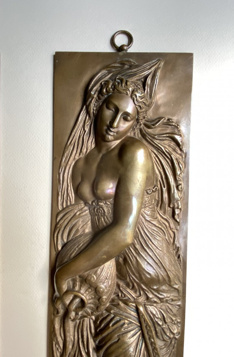 Two Bas-reliefs In Bronze From Jean Goujon - Fontaine Des Nymphes In Paris - Barbedienne XIX-photo-2