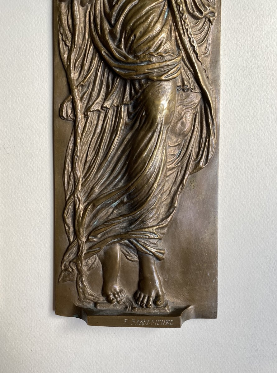Two Bas-reliefs In Bronze From Jean Goujon - Fontaine Des Nymphes In Paris - Barbedienne XIX-photo-4