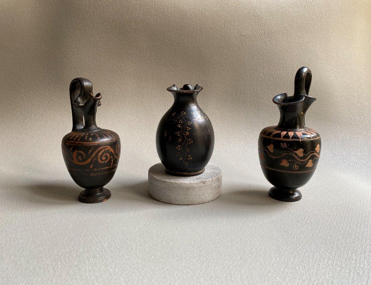 Oenochoé En Céramique Décor  De Pampres De Lierre Grande Grèce Gnathia IV Av.j.c. Italie -photo-5
