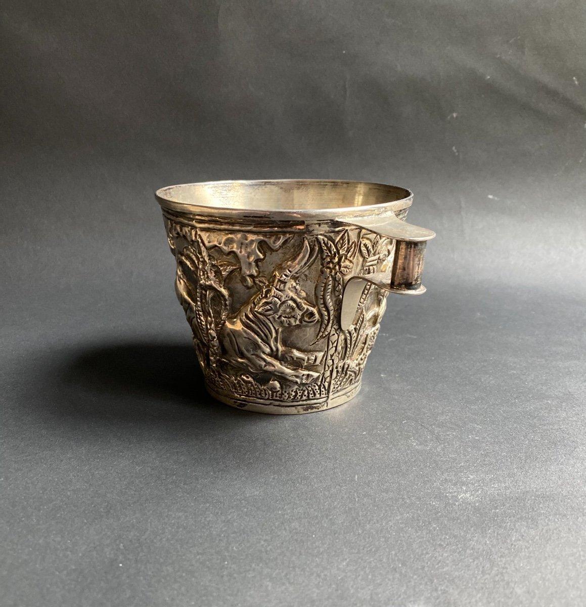 Goblet Du Trésor De Vaphio Tasse En  Argent , Travail Grec XXe d'Après l'Antique -photo-5