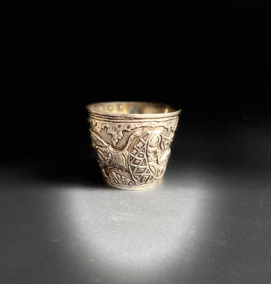 Goblet Du Trésor De Vaphio Tasse En  Argent , Travail Grec XXe d'Après l'Antique -photo-6