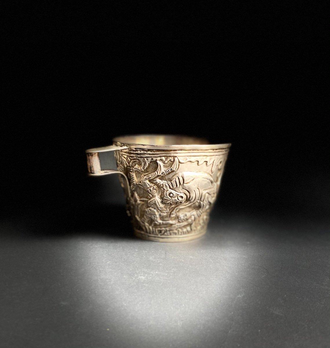 Goblet Du Trésor De Vaphio Tasse En  Argent , Travail Grec XXe d'Après l'Antique -photo-7