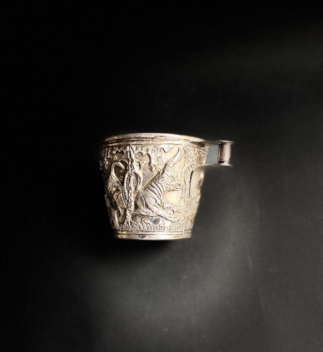 Goblet Du Trésor De Vaphio Tasse En  Argent , Travail Grec XXe d'Après l'Antique -photo-8