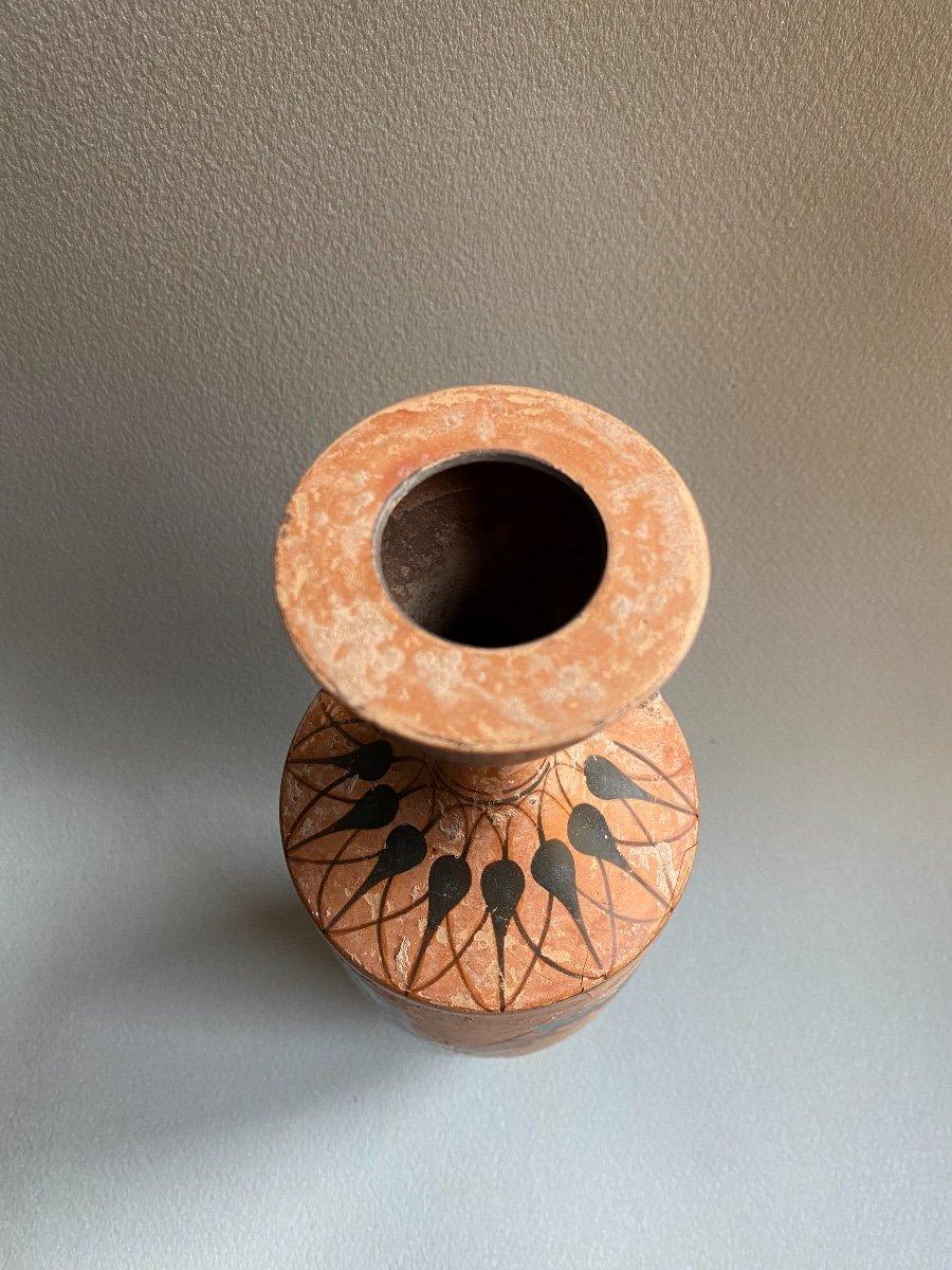 Grand Lecythe , Vase Grec Ancient scène mythologie  antique , XIXe Où Avant . -photo-1
