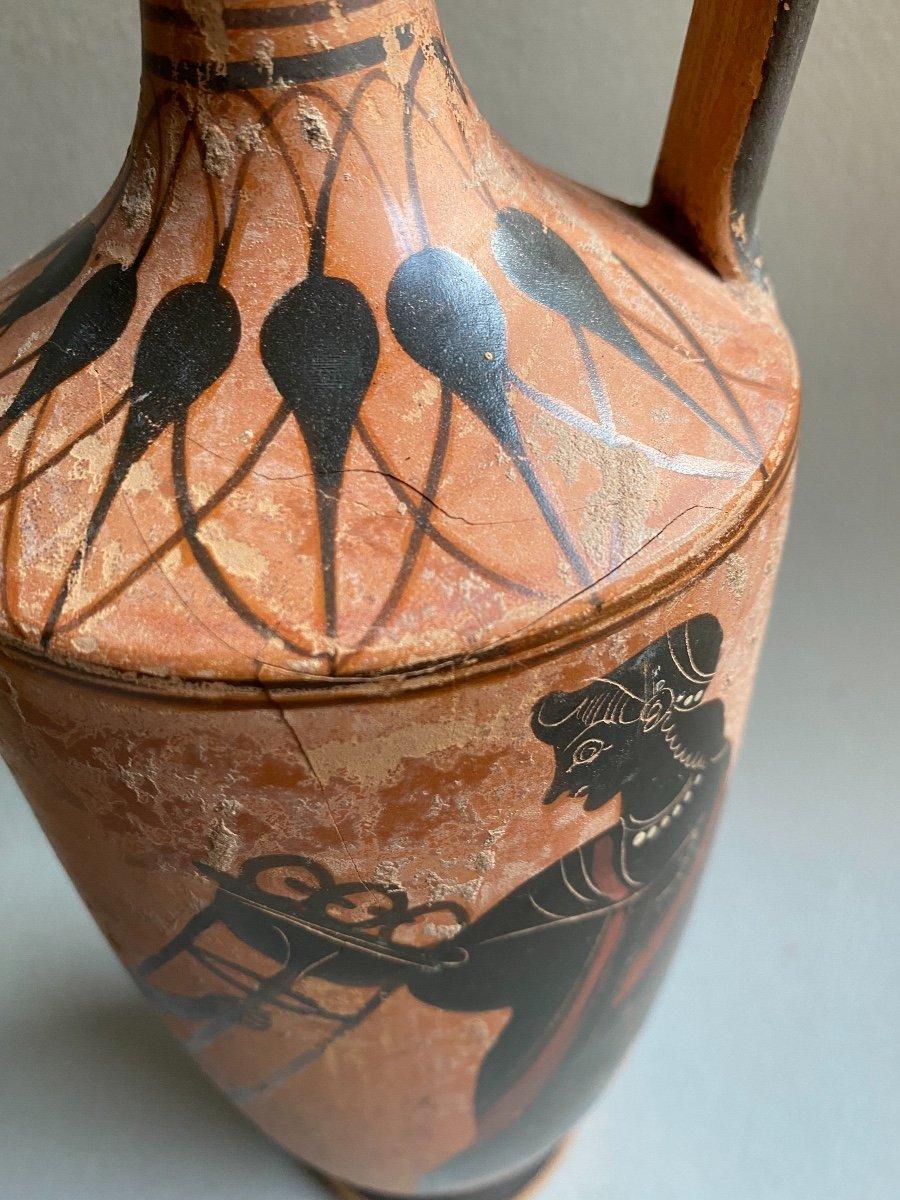 Grand Lecythe , Vase Grec Ancient scène mythologie  antique , XIXe Où Avant . -photo-4