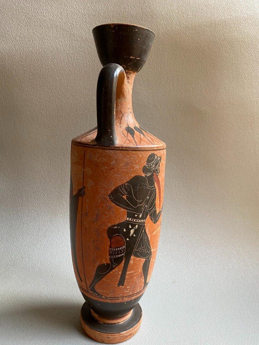 Grand Lecythe , Vase Grec Ancient scène mythologie  antique , XIXe Où Avant . -photo-5