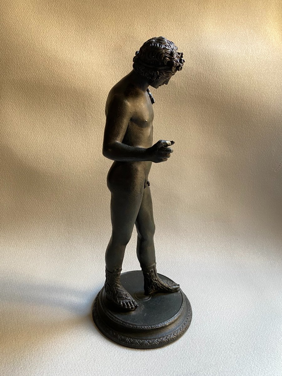 Set Of Bronze Dionysos Bacchus Narcissus XIX Grand Tour After Ancient Pompeii Naples-photo-2