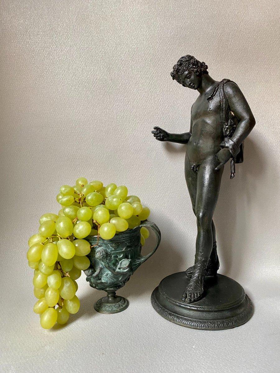 Set Of Bronze Dionysos Bacchus Narcissus XIX Grand Tour After Ancient Pompeii Naples-photo-8