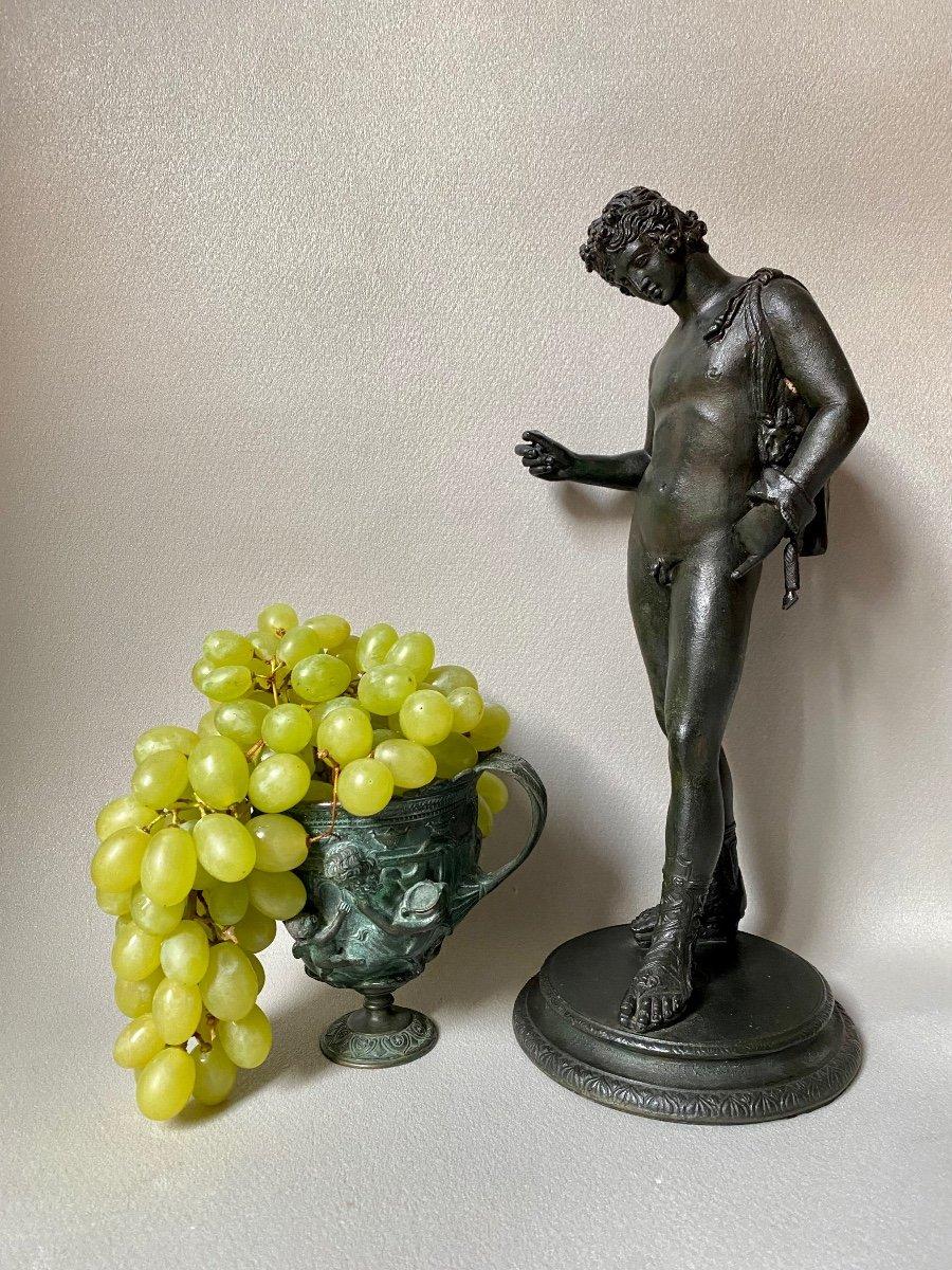 Set Of Bronze Dionysos Bacchus Narcissus XIX Grand Tour After Ancient Pompeii Naples