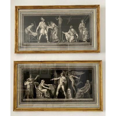 Rare Pair Of Etchings 18th Century