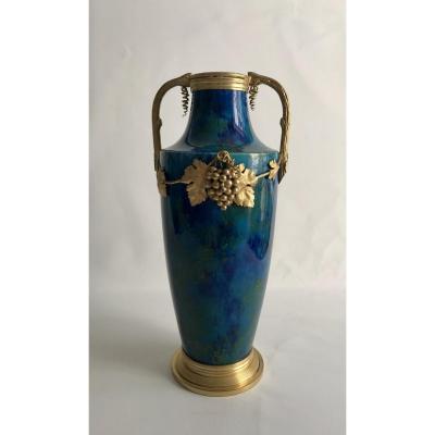 Vase Art Nouveau Par Paul Millet pour la  Manufacture De Sèvre