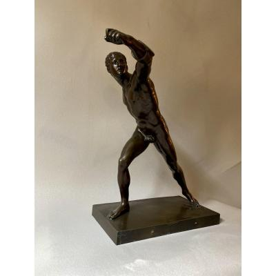 Large Bronze Of The Borghese Gladiator - Grand Tours - Nineteenth