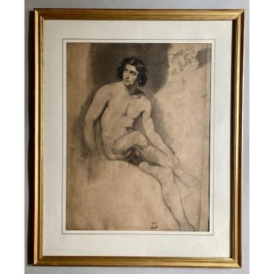 Romantic Man Academy, Male Nude XIXth Baron Gros Studio