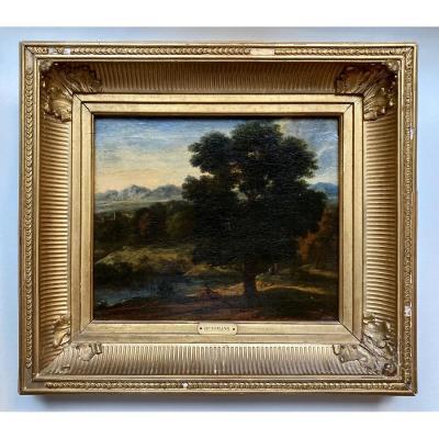Arcadian Landscape By Cornelis Huysmans Flemish School XVII XVIII