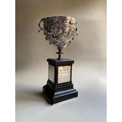 Coupe D'Alesia , D'après L'antique romain , bronze argenté Par Barbedienne  Pour Napoléon III