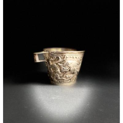 Goblet Du Trésor De Vaphio Tasse En  Argent , Travail Grec XXe d'Après l'Antique