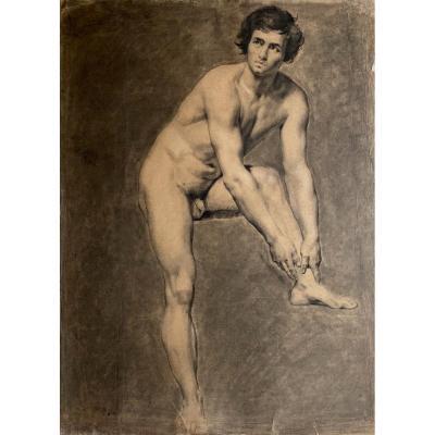 Atelier Du Baron Gros Drawing Academy Of Romantic Man Male Nude XIX