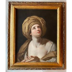 Portrait De Sibylle D'après Guido Reni école Bolonaise - Italie fin XVII debut  XVIII