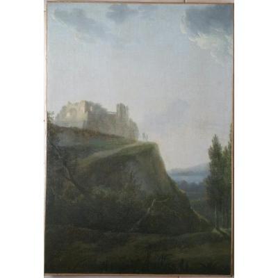 Jean-Victor BERTIN - PAYSAGE D'ITALIE - HUILE c.1800