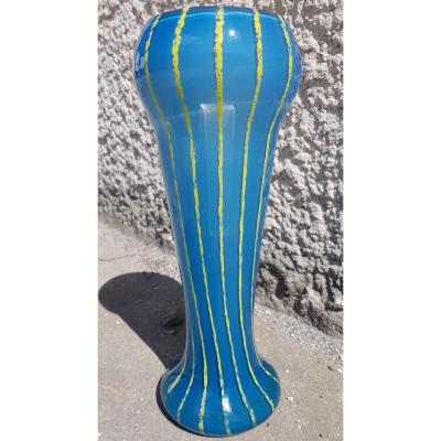 "Schneider (attr.) - Art Deco Vase - ""filete"" Pattern  - 31.5 Cms - C. 1930"
