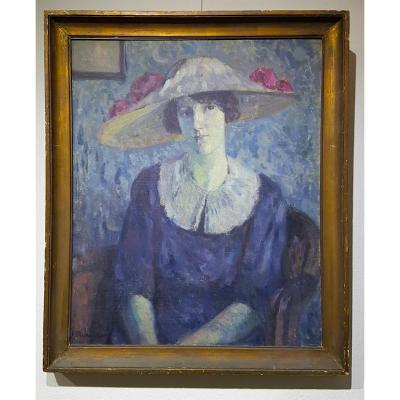 Dame Élegante Avec Chapeau (1911)