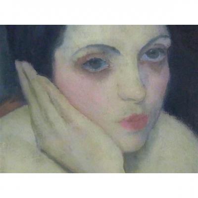 Rêveuse Par Boris Solotareff (1889-1966)