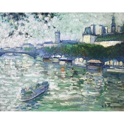 On The Seine, Paris, By Pierre De Belay