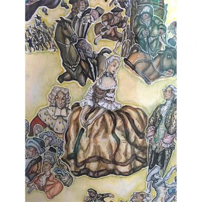 Historical Scene By Gyula Batthyany, Hungarian